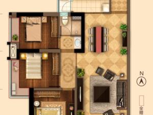 万达海公馆 3室2厅2卫