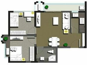 恒泰风格城市 2室1厅1卫