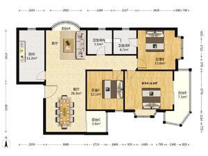 太阳都市花园一期 3室2厅2卫