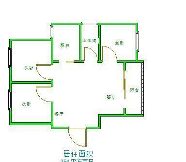 翡翠城 3居 户型图