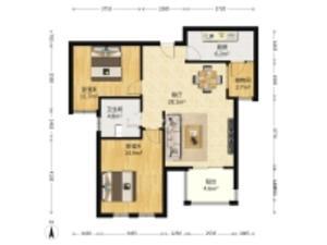 中央景城 2室2厅1卫