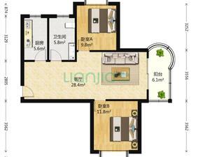 金色航城富鑫苑 2居 南北通透 电梯房 满五唯一
