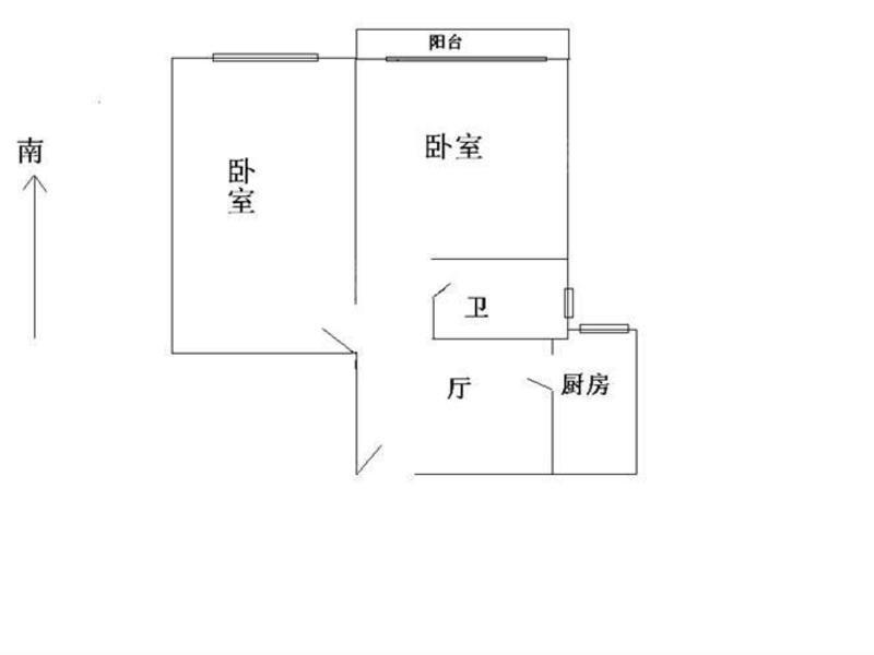 明月坊 2居 南北通透 电梯房 靠近地铁 户型图