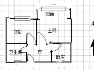 西朱新村 2居 朝南 靠近地铁