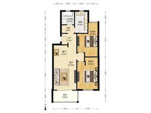 星风花苑 2室2厅1卫