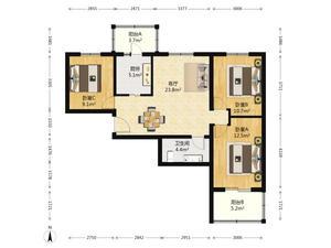 望京电梯三居室,低总价入门级,性价比超高685万