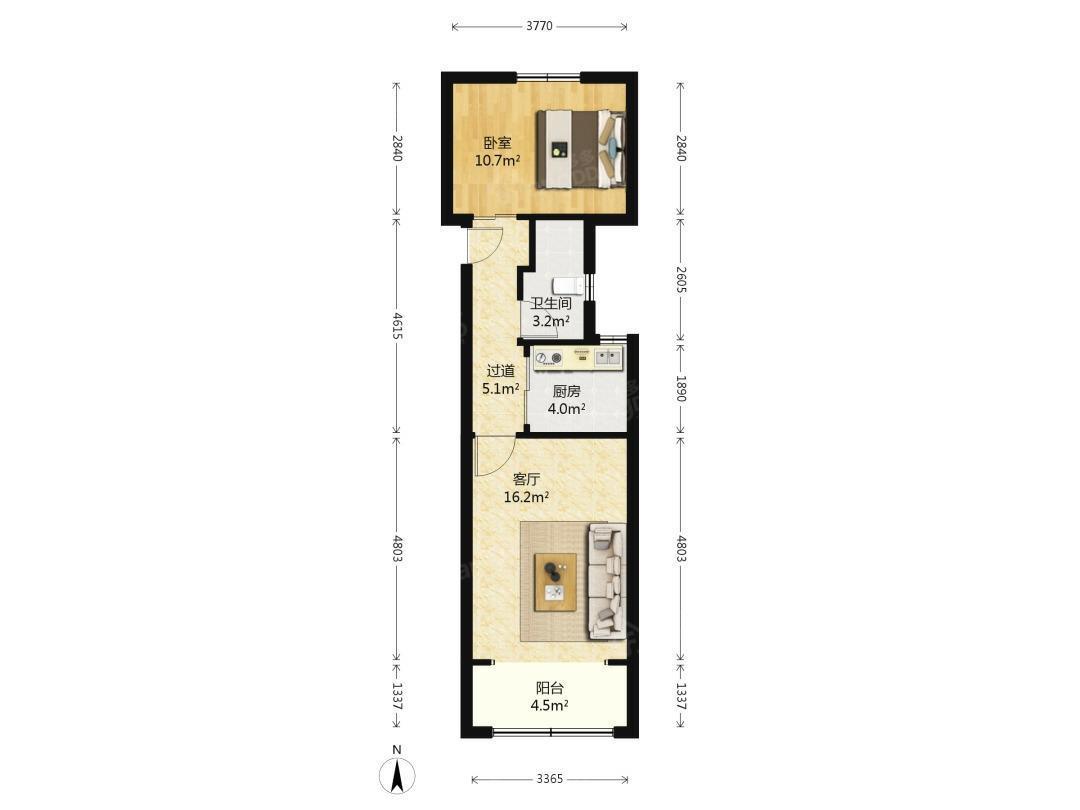 上南二村 房东置换本小区三房,诚心出售,随时恭候您的到来。 户型图