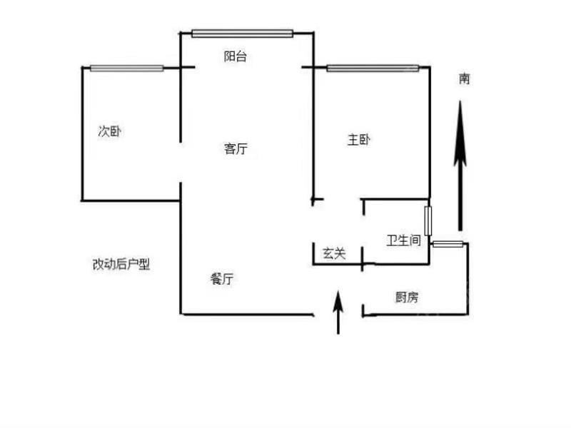 共康雅苑 2居 电梯房 户型图