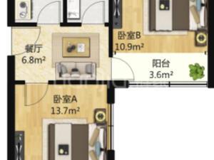 竹园高层 2居 朝东南 电梯房 靠近地铁